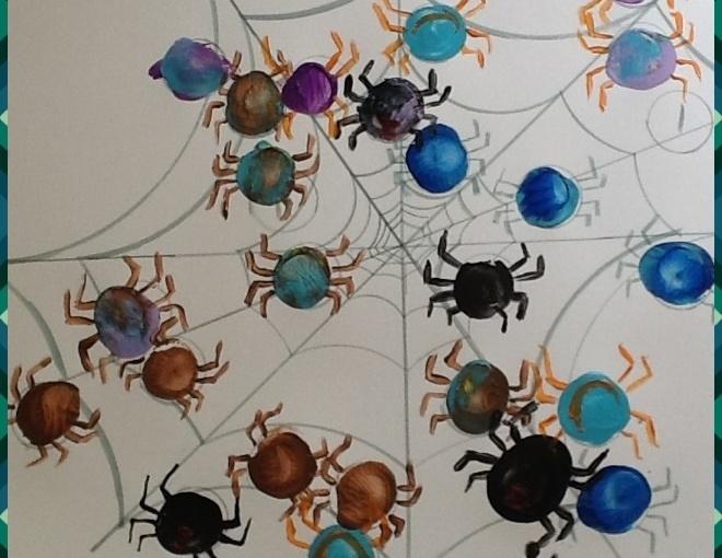 Spelling Spider WebArt