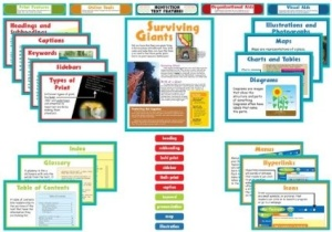 Nonfiction Text Features Bullentin Board Poster Set