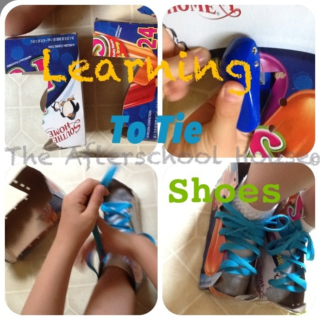 Learning to tie shoes propriocption
