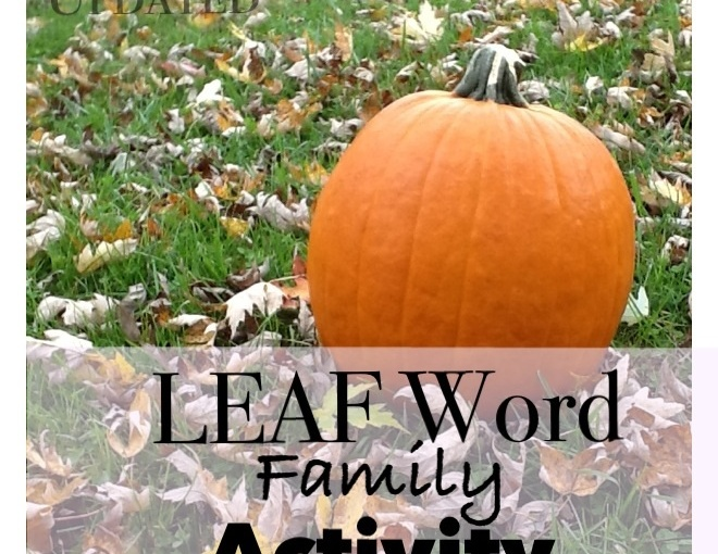 Leaf Word Families Activity