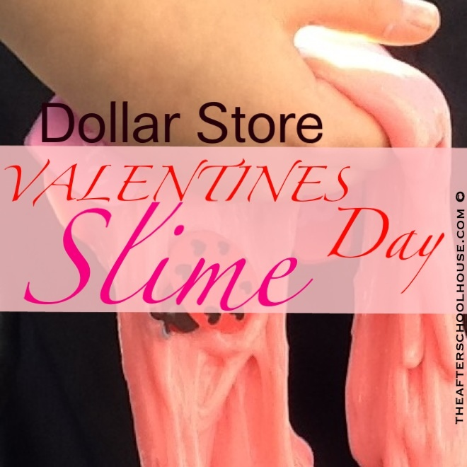 Dollar Store Valentines Day Slime